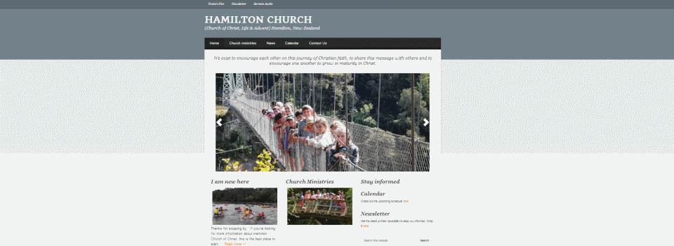 Hamilton Church Website