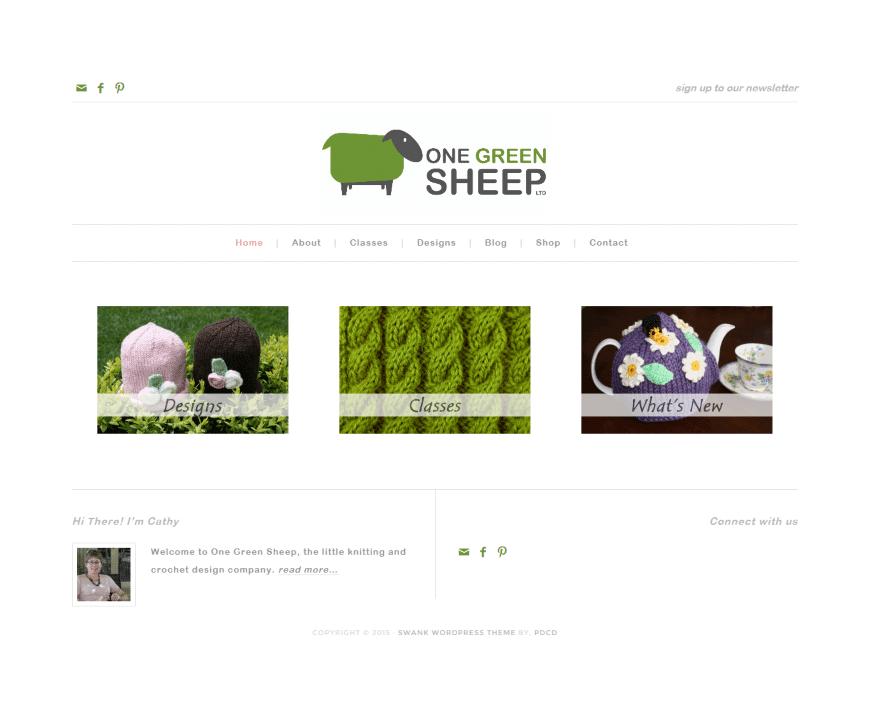 Screenshot of One Green Sheep an example of artisan web design