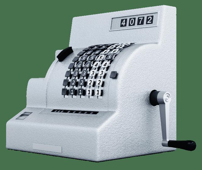 cash register - ecommerce website sale concept