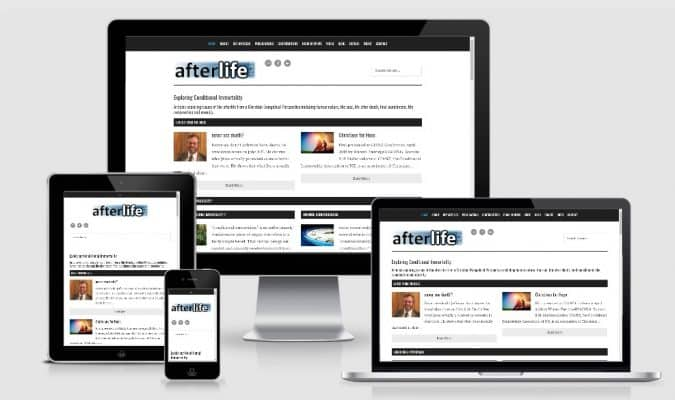 screenshot of Afterlife example of Christian Website Design