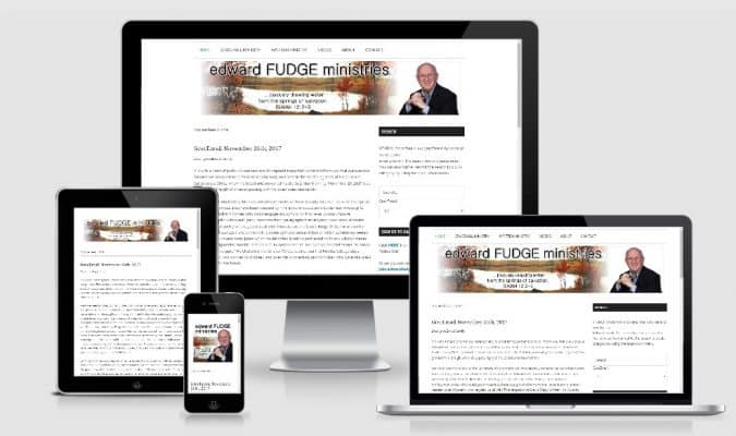 screenshot of the responsive design of Christian Theologian Website