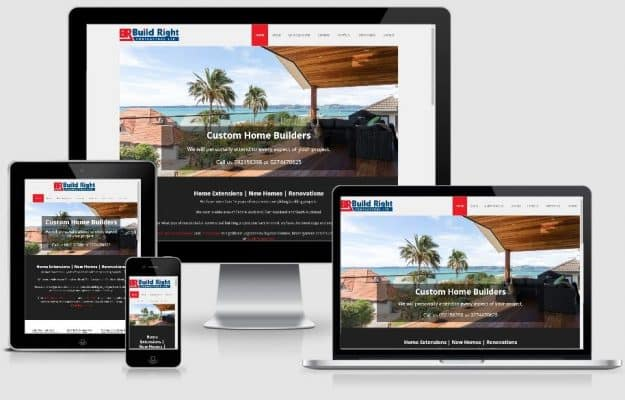 builders website responsive design